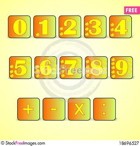 Numbers, cdr vector Stock Photo