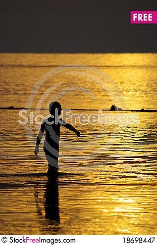 Golden sea Stock Photo