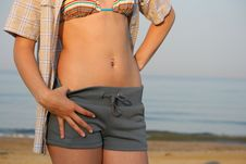 Free Beautiful Female Stomach. Stock Photos - 18690193