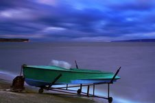 Free Boat On The Bank Of A Lake Royalty Free Stock Photography - 18690217
