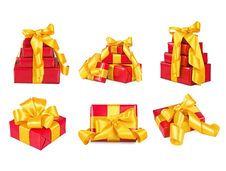 Free Collection Of Boxes With The Gifts Royalty Free Stock Photos - 18690418