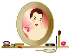 Free Make-up Mirror Stock Photo - 18690850
