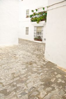 S Street At Vejer Village Royalty Free Stock Photo