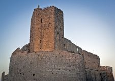 Ruined Castle At The Evening Stock Images