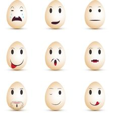Free Emoticons Eggs Royalty Free Stock Images - 18691859