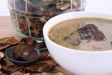 Free Mushroom Soup And Dried Mushrooms Stock Image - 18692031