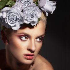 Free Beauty And Roses Royalty Free Stock Photo - 18692165