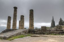 Free Temple Of Apollo At Delphi Royalty Free Stock Photo - 18692845
