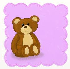 Free Teddy Bear - Childish Style Royalty Free Stock Photos - 18693308