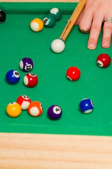 Free Green Billiard (poool) Table Royalty Free Stock Photo - 18693415