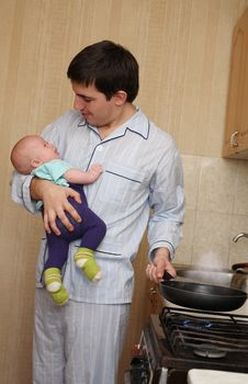 Free Cares Of The Young Father Stock Photos - 18693423