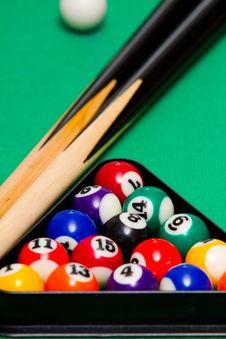 Free Green Billiard (poool) Table Stock Photos - 18693453