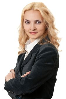 Business Blonde Woman Royalty Free Stock Photo