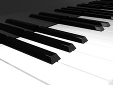 Free Piano Keyboard Royalty Free Stock Photo - 18694645