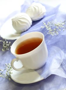 Free Cup Of Tea, Zephyr And Flowers Stock Images - 18694934