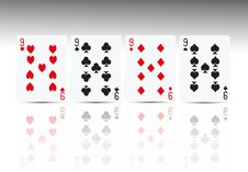 Free Poker Card 4 Nine Royalty Free Stock Photos - 18696598