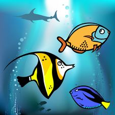 Fish Graphic Royalty Free Stock Photos