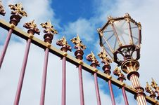 Free Castle Decorative Grille Fence With Lantern Stock Images - 18697444