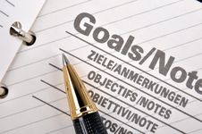 Free Goals Page In Notebook Stock Photos - 18697773