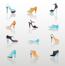 Free Icon Set, Shoes Royalty Free Stock Image - 18697986