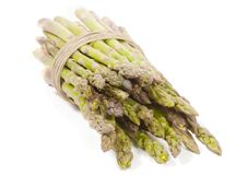 Free Asparagus Wrapped In Hemp On Side Stock Images - 18699074