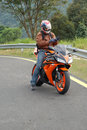 Free Biker Ready To Speed Off3 Royalty Free Stock Photos - 1875428