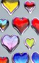 Free Shiny Hearts Royalty Free Stock Photography - 1878447
