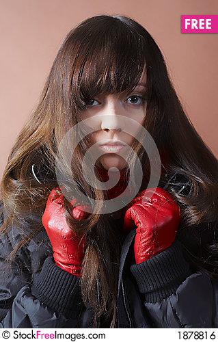 Free Portrait Of The Cold Girl Royalty Free Stock Image - 1878816