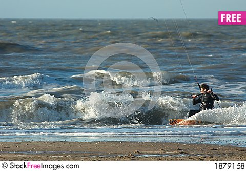 Free Kite Surfer In Action Royalty Free Stock Photos - 1879158