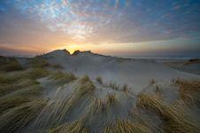 Free Beautiful Sunset And Sand Dunes Stock Photos - 1870023