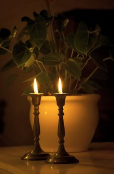 Free Late Night Candles Royalty Free Stock Photos - 1870268