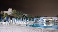 Free Huge Swimming Pool - Night Stock Photo - 1870330