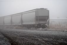 Free Railroad Cars In Fog Royalty Free Stock Images - 1870879