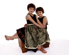 Free Dressy Sisters Royalty Free Stock Photos - 1871168
