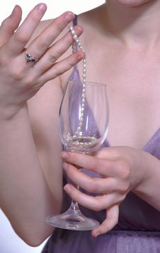 Free The Girl With A Glass In The Hand Stock Photo - 1871890