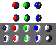 Buttons 3D On/off_very_high_resolution Stock Image