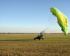 Paraglider Landing Royalty Free Stock Image