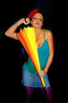 Free Rainbow Girl Royalty Free Stock Photo - 1872435