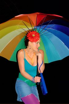 Free Rainbow Girl Royalty Free Stock Photo - 1872455