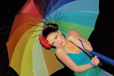 Free Rainbow Girl Stock Photo - 1872460