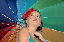 Free Rainbow Girl Stock Image - 1872461