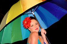 Free Rainbow Girl Stock Photography - 1872462