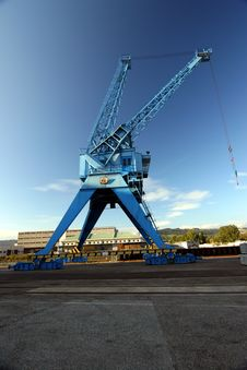 Free Harbor Crane In Blue Sky Stock Photography - 1873152