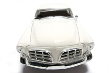 Free 1956 Chrysler 300B Metal Scale Toy Car Fisheye Frontview Royalty Free Stock Photo - 1873525