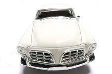 1956 Chrysler 300B Metal Scale Toy Car Fisheye Frontview Royalty Free Stock Photo