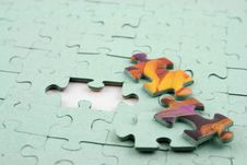 Free Jigsaw 3 Bits Out Stock Photography - 1874642