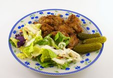 Free Chicken Barbeque And Salad Dressing Stock Photos - 1874803