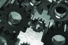 Free Gears-machinery, Slightly Silhouetted Royalty Free Stock Image - 1876856