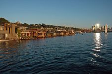 Free Seattle Lake Union Houseboats Royalty Free Stock Photos - 1878058