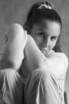 Free Girl In Wool Sweater Royalty Free Stock Photo - 1879485